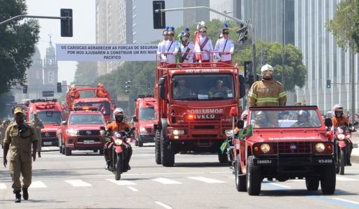 Corpo de Bombeiros participa do Desfile da Independência